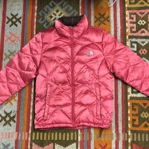 Pink North Face winter coat size M